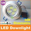 New Year Super Sale 12W dimmable led downlight 4x3W recessed ceiling light CE RoHS SAA C-Tick Australia 30pcs+