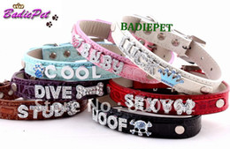 Wholesale Wholesale Croc Pet Collars - MOQ:20pcs(Mix 7 Colors)!Free Shipping!Croc PU Leather Personalized Pet Collar With 10mm Slide Bar (P