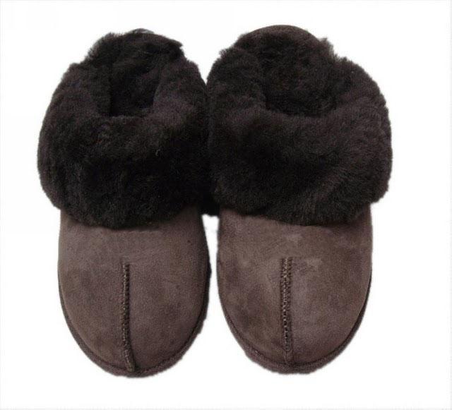 Vinter Varmt tofflor Head Wrapped Choclolate Super En Sheepskin Ull One Andiskid Sole Gratis frakt