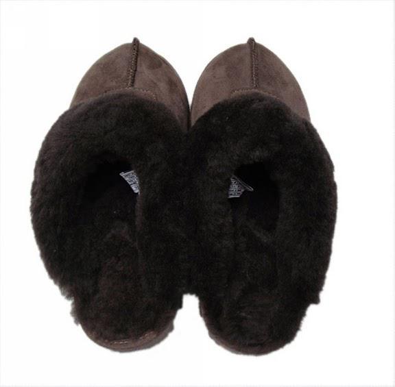 冬の暖かいスリッパの頭のヘッド包まれたチョウロール酸塩スーパーAシープスキンウール1つの滑り止めの唯一の送料無料
