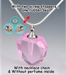Wholesale Crystal Vials - Aromatherapy Necklace Crystal Pendant necklaces Fragrance vial necklaces perfume pendant