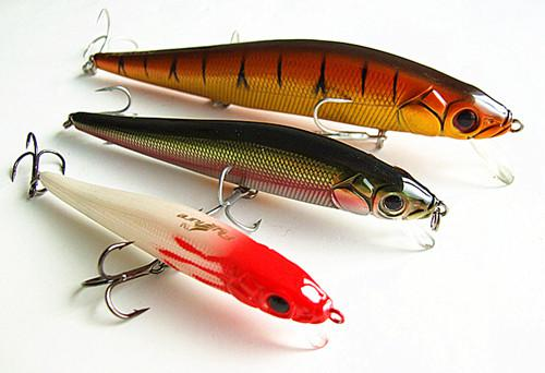 best selling 11cm 14.5g Minnow Bait Fishing Lure Casting Sea Fishing Lure Hard Bait Artificial Bait False Plastic Lure Floating Type China Hook Ten Color
