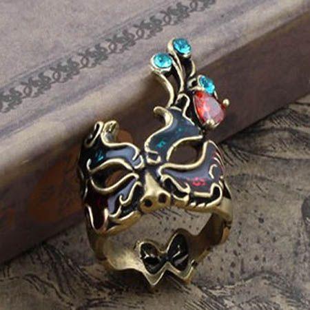 Gótico Royal Vintage Máscara ANILLO anillo anillo Mujeres Encanto moda ANILLOS anillos anillos Mascarada Anillos