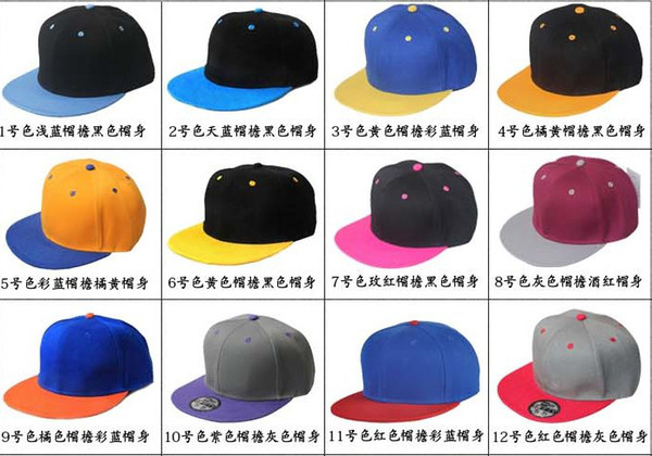 best selling Nice Blank Plain Snapback Hats Snapbacks Snap Back Caps Hat Cap Adjustable Mixed Order Hats Caps Can do custom hats cap too high quality