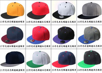 Wholesale Blank Strapback Hats - High Quality Hot Selling Plain Blank Snapback hats black Snapbacks Snap Back Strapback Caps Hat Mix order free shipping