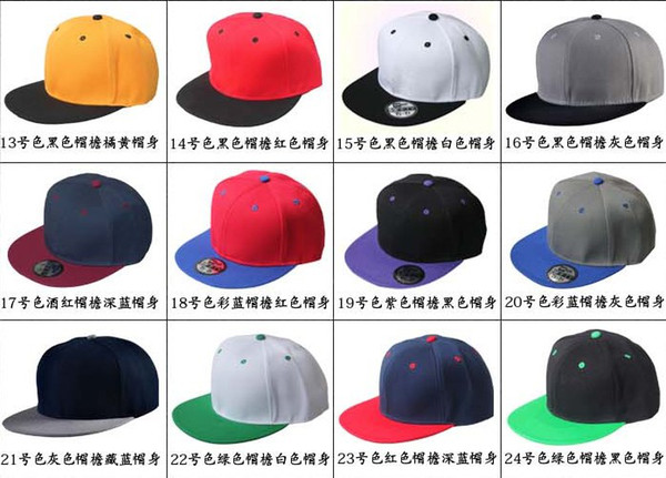 top popular High Quality Hot Selling Plain Blank Snapback hats black Snapbacks Snap Back Strapback Caps Hat Mix order free shipping 2019