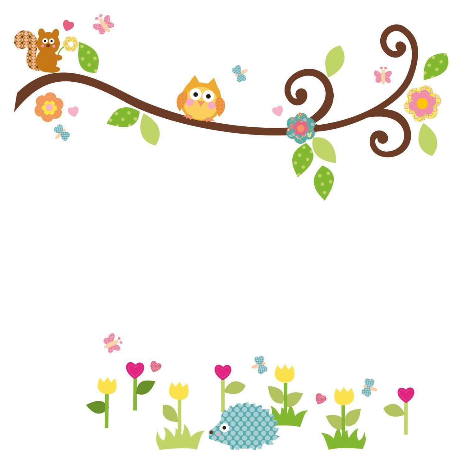 Scroll Wall Art scroll branch peel and stick wall art decals owl leaves flowers