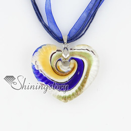 Wholesale Murano Love Heart Pendant - heart valentine's day love glitter swirled pattern lampwork murano Italian venetian glass pendants cheap fashion the jewelry MUP126