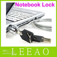 Wholesale Notebook Security Cable Lock - 180pcs lot LEAO Laptop PC Notebook Security Cable Chain Key Lock with 2 keys Free Shipping
