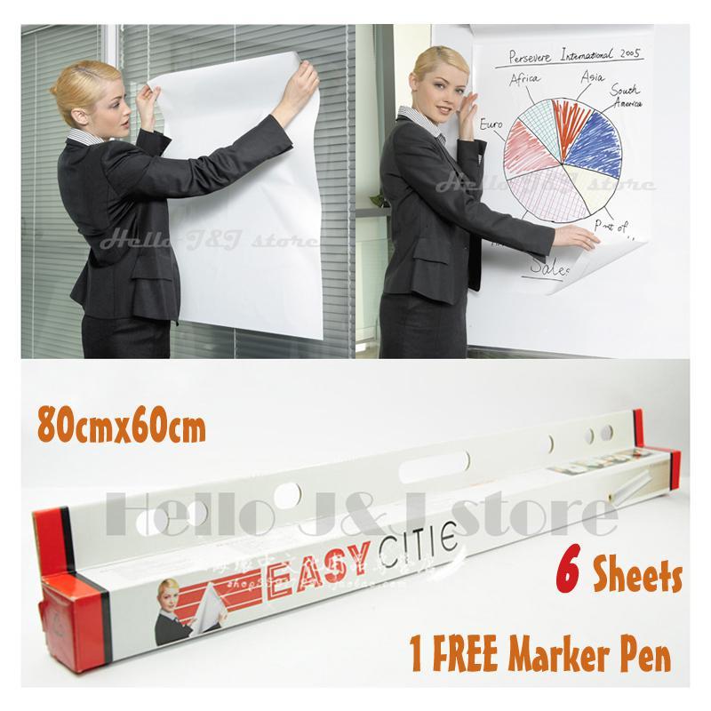 whiteboard white dry erase board sticker flip chart sheet a1 4.8m