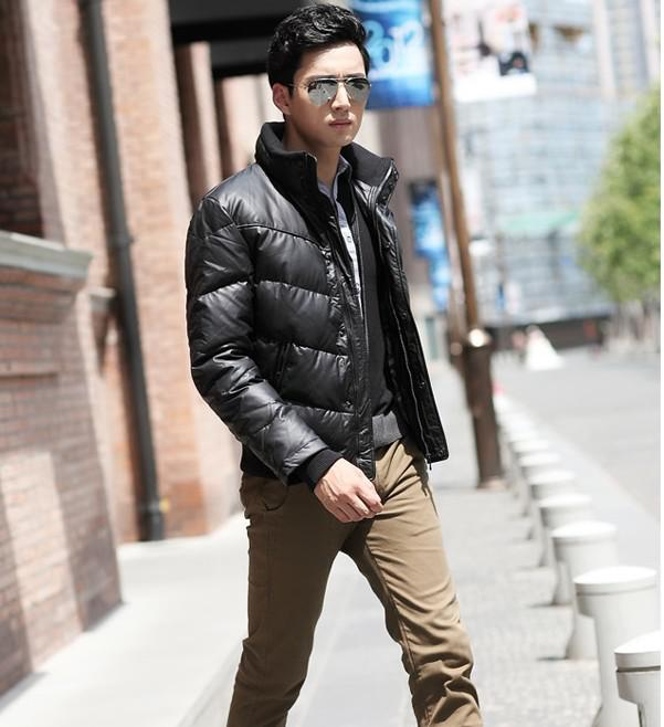 2016 Red Black Men Down Jacket Feather Liner Jacket Men Short Down