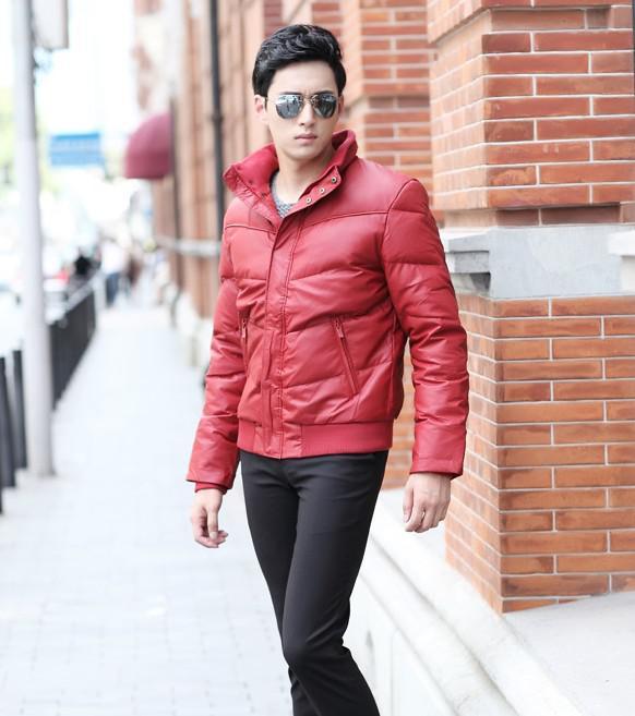 2016 Red Black Men Down Jacket Feather Liner Jacket Men Short Down