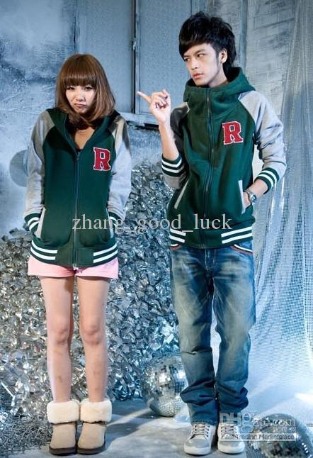 Hoodie Baseball Uniform Mixed Colors The R Letters Couple Baseball