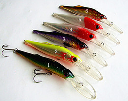 Minnow Bait Fishing Lure Big Duro Artificial Cebo Artificial Big Game Lure Fishing Tackle China Hook Deep Sumergence Tipo de suspensión Dos Tamaño
