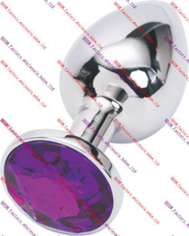 Wholesale Purple Anal Jewelry - BDSM FATORY Stainless Steel Attractive Butt Plug Rosebud Anal Jewelry Deep purple color