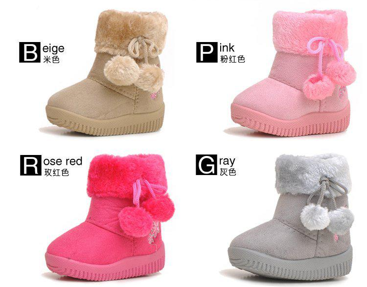 Hot Sale Baby Snow Boots,Baby Winter Shoes,Baby Warm Footwear ...