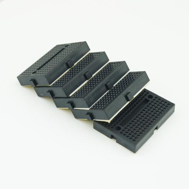 10st / lot Mini Breadboard 170 Tie-poäng för Arduino Shield Svart Fri frakt # BV105 @CF