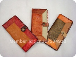 Wholesale Cheapest Purses - Promotional cheapest fashion COWHIDE hand made purses, lady wallets(JL02)long style