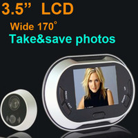 "Wholesale Digital Peephole Viewer Security - 3.5"" LCD Digital Doorbell Door Peephole Viewer Picture Taking Security Camera"