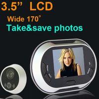 """Wholesale Door Pictures - 3.5"""" LCD Digital Doorbell Door Peephole Viewer Picture Taking Security Camera"""