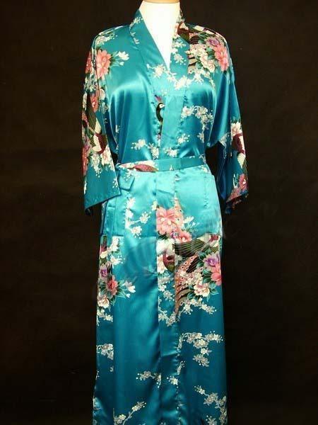 2019 Wholesale Women s Silk Satin Gown Kimono Robe S 3XL A 05 From  Charm2008 29669bb47