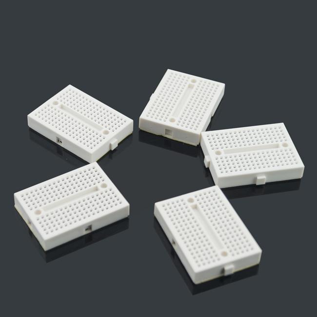 10st / Lot Mini Breadboard 170 Tie-poäng för Arduino Shield Vit Gratis frakt # BV109 @CF