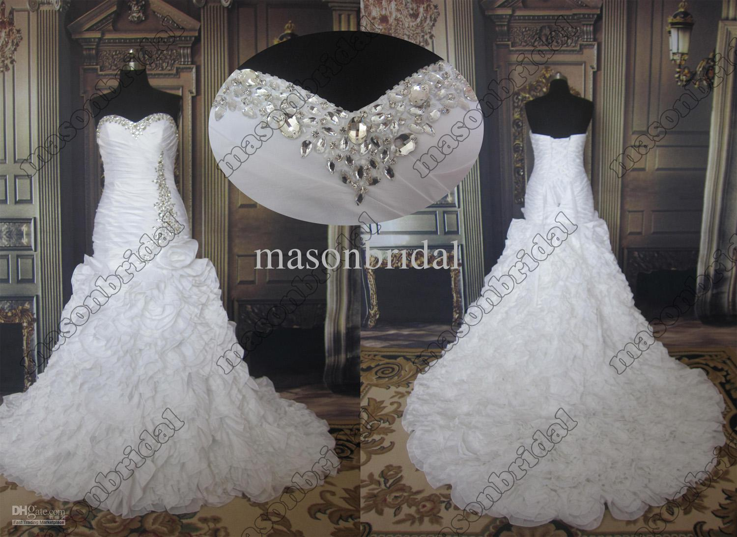 Discount new style a line satin wedding dress 2013 with hand made discount new style a line satin wedding dress 2013 with hand made flower beads long cathedral train gowns big ball gown wedding dresses bridal wedding dress ombrellifo Image collections