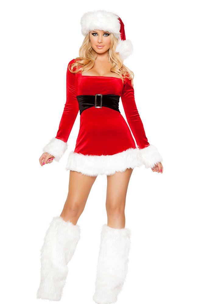 Mrs santa claus dress costume sexy christmas