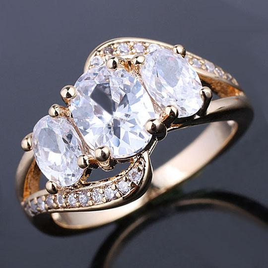 4e0d961d0 Prong Set 3-stone Clear White Topaz Gold Filled Women Cocktail Ring Size 7  GF J7530 Gold Filled Ring Online with $8.39/Piece on Timejewel's Store    DHgate. ...