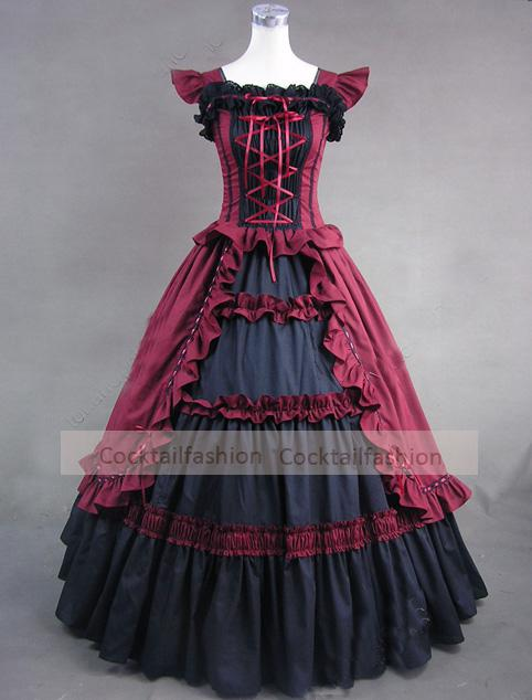 Discount Red Black A Line Layered Bow Ruffle Lace Bridal Dresses