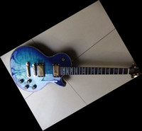Wholesale Blue Burst Custom Guitar - 20101216 NEW RARE Custom Shop Electric Guitar Shell Inaly Abalone surround Body Blue Burst