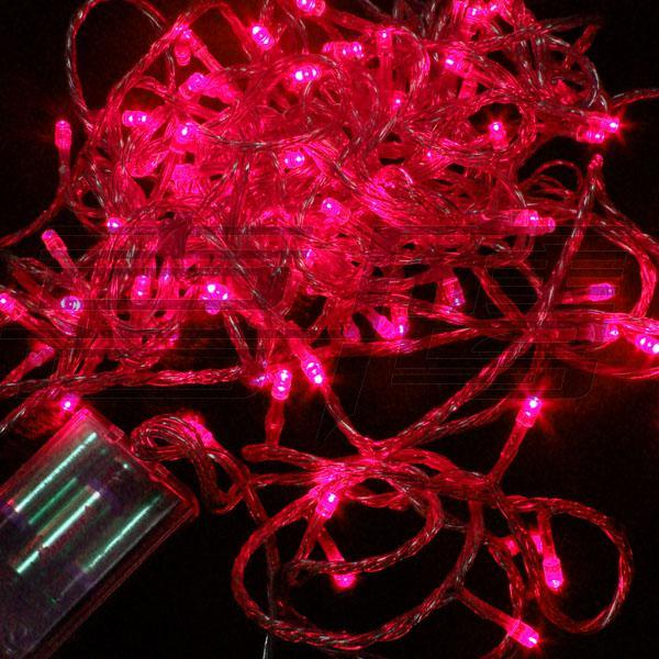 100 LED 10m Julprydnadsljus, Flash LED Färgade ljus, LED Light String Batteridriven Vattentät LED Light Strip Lighting Strips
