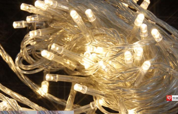 Lumière d'ornement de Noël de 100 LED 10M, lumières colorées par Flash LED, bandes lumineuses menées étanches menées par bande légère menée par batterie de chaîne légère