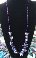 Purple agate beads, pearl crystal necklace fashion Hot Produ...