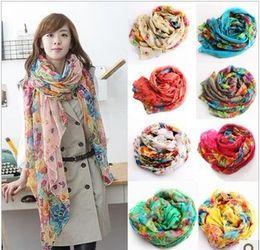 Argentina 10 piezas mujeres coreanas de algodón y lino estilo rural roto hermosa larga bufanda de seda chal Suministro
