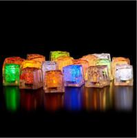 cubos de gelo à prova d'água venda por atacado-Frete grátis 36 pçs / lote quadrado botão de 3.5CM À Prova D 'Água LED cubos de gelo