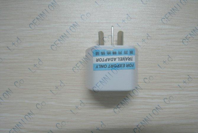 İNGILTERE ABD AB Evrensel AU AC Güç Fiş Adaptörü Seyahat 3 pin Dönüştürücü Avustralya 1000 adet / grup