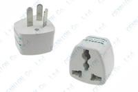 Wholesale Eu Australia Power - UK US EU Universal to AU AC Power Plug Adapter Travel 3 pin Converter Australia 100pcs lot