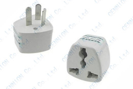 Wholesale Apple Travel Converter - UK US EU Universal to AU AC Power Plug Adapter Travel 3 pin Converter Australia 100pcs lot