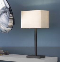 Wholesale Square Bedside Lamp - Modern Minimalist Creative Fashion Square Iron Fabric Table Lamp Bedroom Bedside Lamp