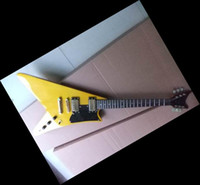 Wholesale New Arrival Electric Guitar Gold - New Arrival 101110 1958 Flying V Electric Guitar mahogany body gold hardware 1968 yellow