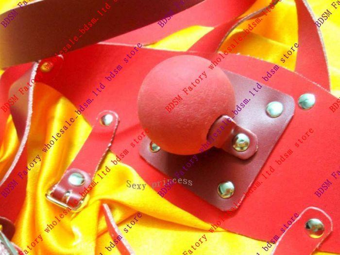 BDSM FATORY PVC Muzzle Gag with Rubber BallRed sm43221