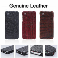 Wholesale Hoco Leather Iphone Cases - New HOCO Genuine Flip Real Leather Hard Case Luxury Leather Pouch Cover Skin Mix Color For iPhone 5