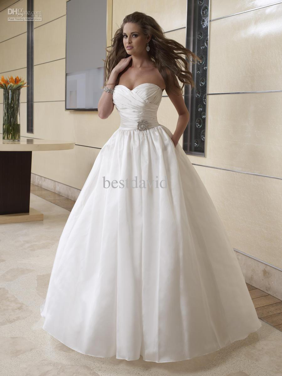 Discount Cheap Taffeta Two Piece Detachable Wedding Dress A Line