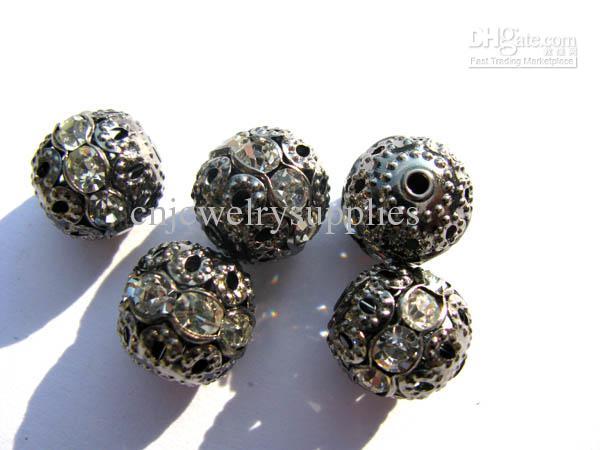 hochwertige messing kristall strass spacer antike bronze silverassortment schmuck perlen 12mm