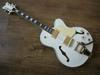 New (white) 2pickups electric guitar with beige pickguard and white rear plate OEM