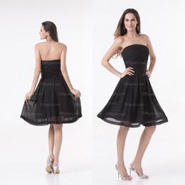 5756f5514 Vestidos de festa Chiffon simples sem alças simples preto sem alças PT011
