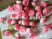 Wholesale Silk Rosebuds - Baby Pink Color Silk Rose Rosebud Flower Head 100pcs Artificial Flowers Rose Camellia Peony Flower Head Wedding Christmas Party
