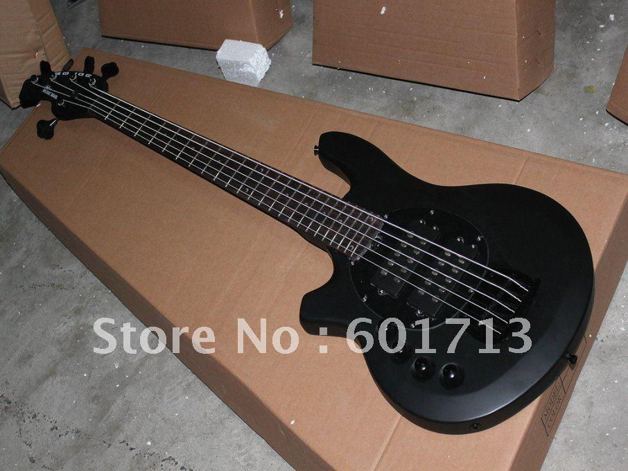 new left hand electric bass guitar 5 string bass black matte finish from china bass guitars for. Black Bedroom Furniture Sets. Home Design Ideas