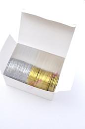 Wholesale Sticker Plastic Flower - 50pcs Gold Color + 50 pcs Silver Color Striping Tape Metallic Yarn Line Nail Art Decoration Sticker